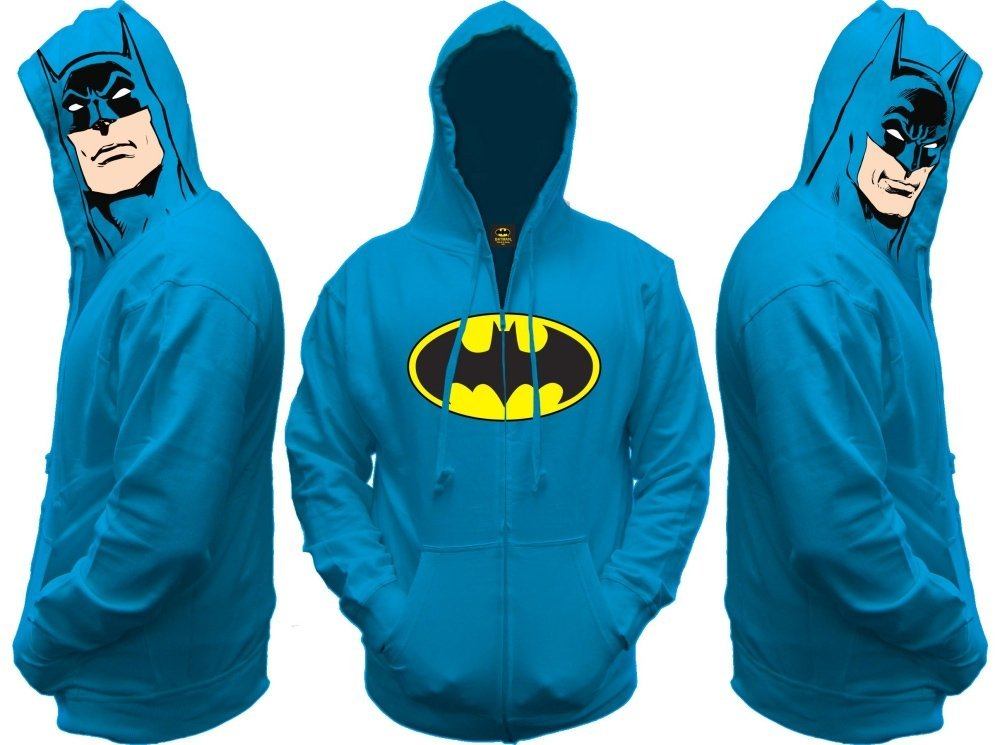 Batman All View Zip Hooded Sweatshirt